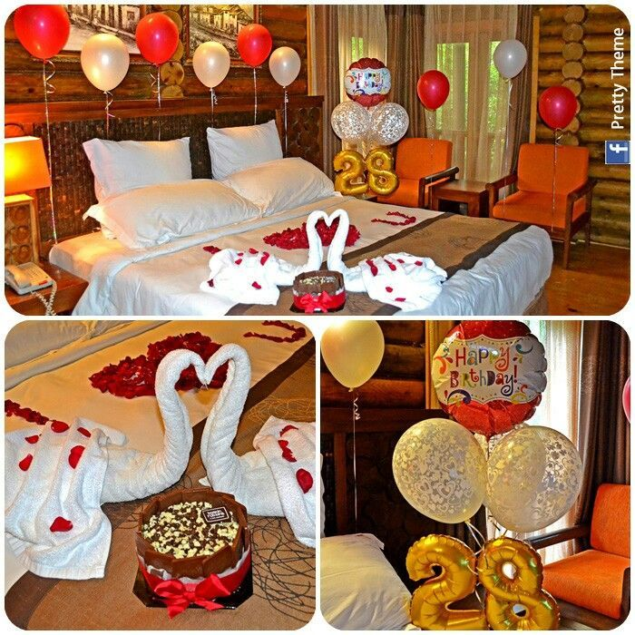 Romantic decorated hotel room for his\/her birthday Romantic - romantic bedroom ideas for him