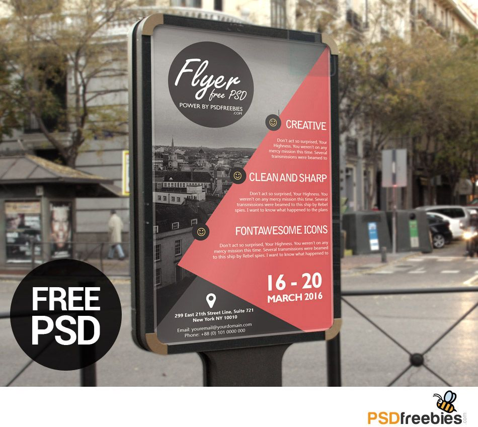 Poster design template psd -  Poster Or Flyer Template Psd Download
