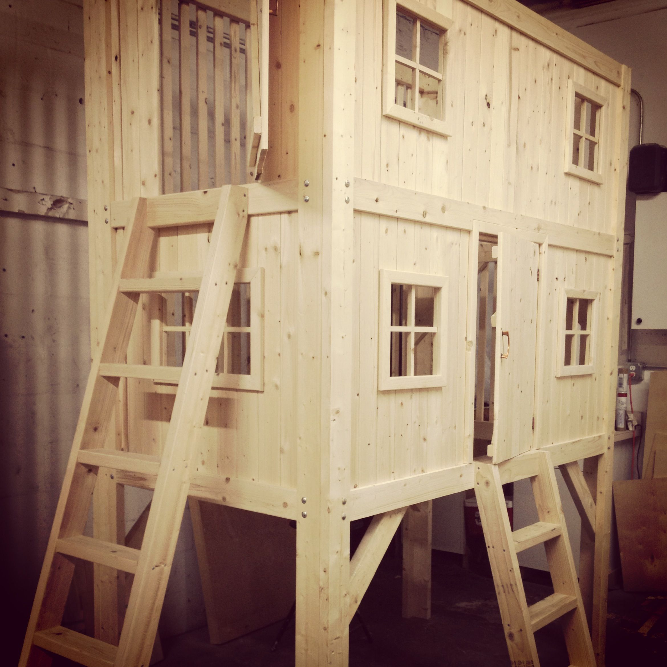 Diy Kids Beds Our Family Project Diy Loft Bed Bunk Bed Playhouse
