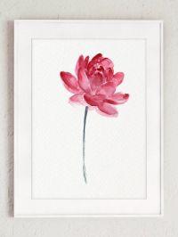 Lotus Flower Pink Wall Art Blooming Lotus by ...