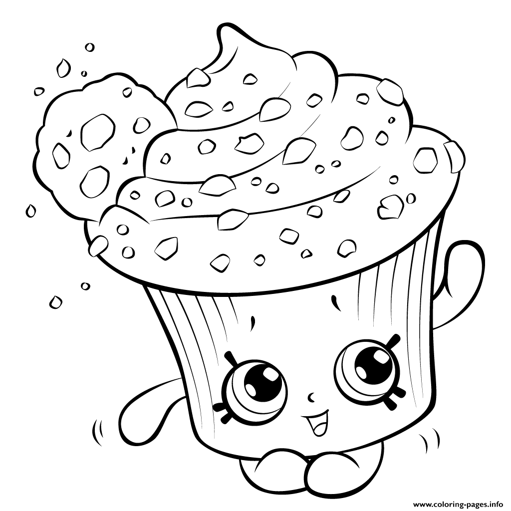 Print amazing cupcake for kids shopkins season 5 coloring pages