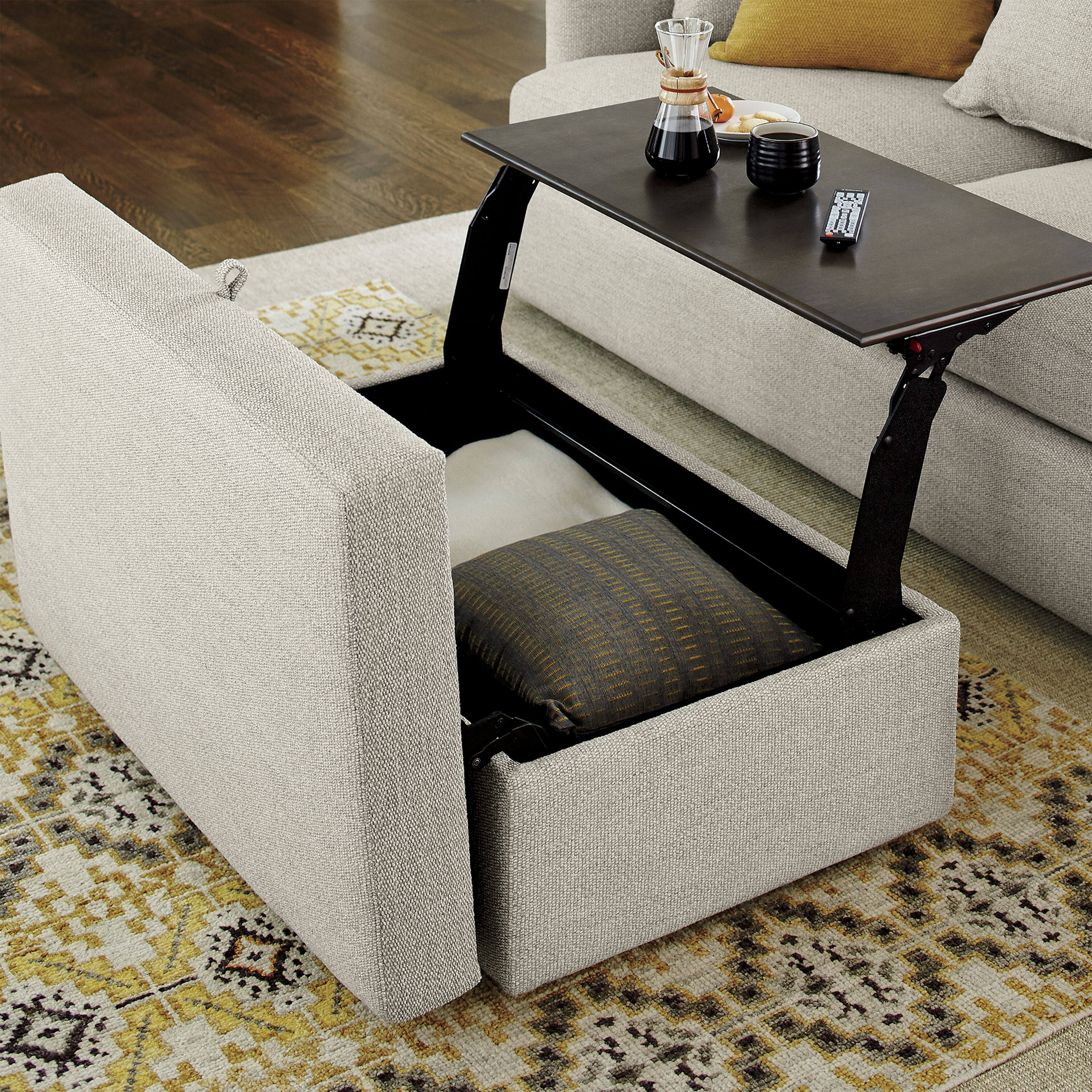 Coffee Tables With Ottomans That Pull Out There 39s A Reason It 39s Called Lounge This Ottoman Part Of