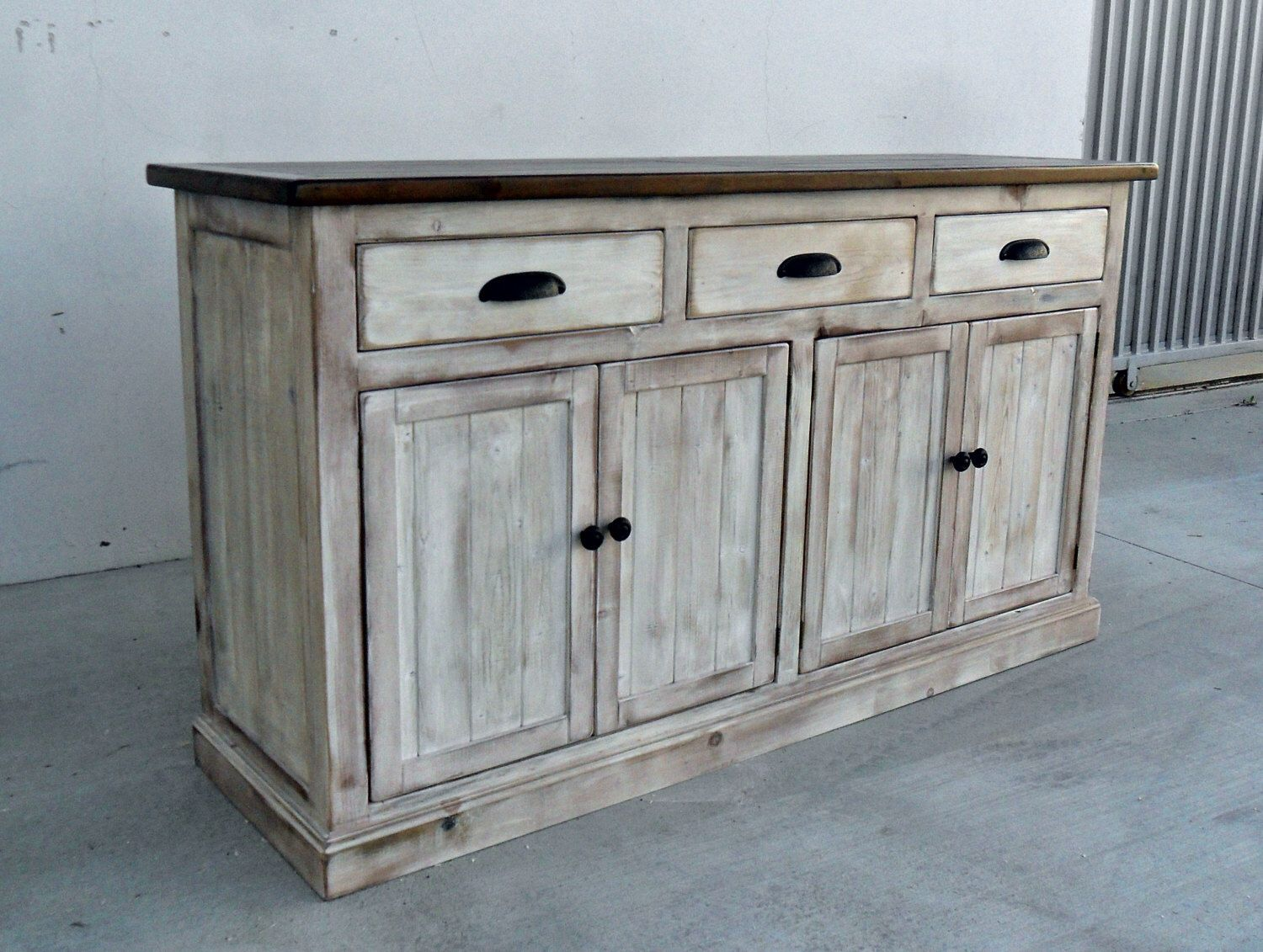 Sideboard Vintage Sideboard Server Console Cabinet Reclaimed Wood Buffet