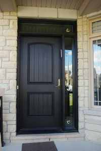 Entry Executive Fiberglass SIngle Solid Front Door with ...
