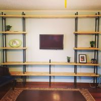 Completed pvc pipe shelves  | Pinteres