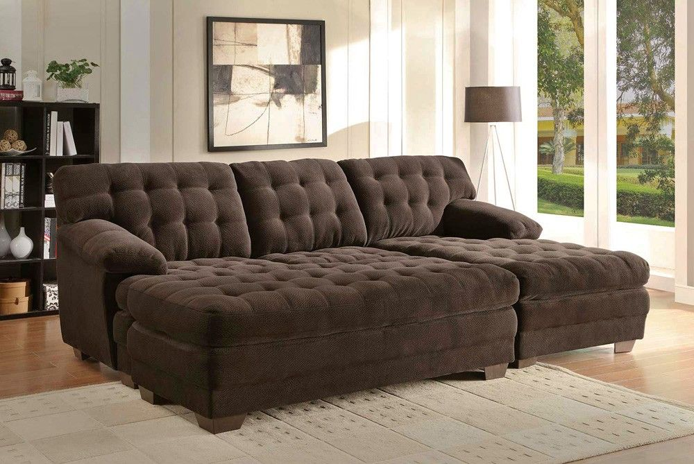 oversized sectional Sofa With Chaise And Oversized Ottoman - oversized living room sets