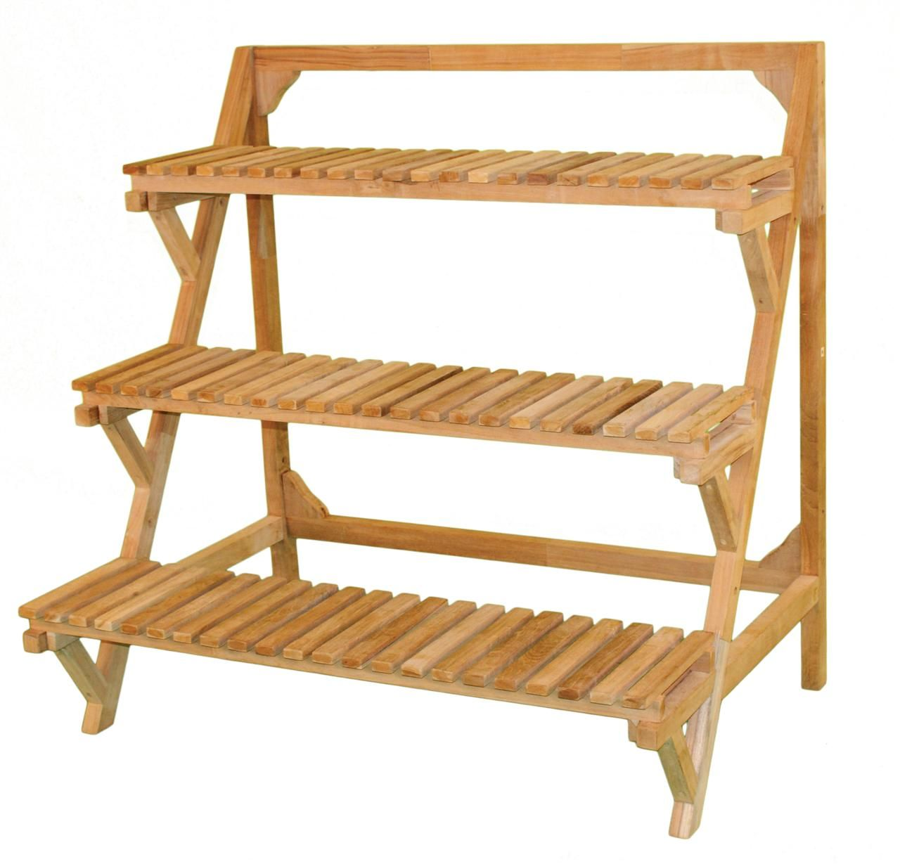 Plant Shelving Indoor Tiered Outdoor Indoor Plant Stand Eucalyptus Wood Patio