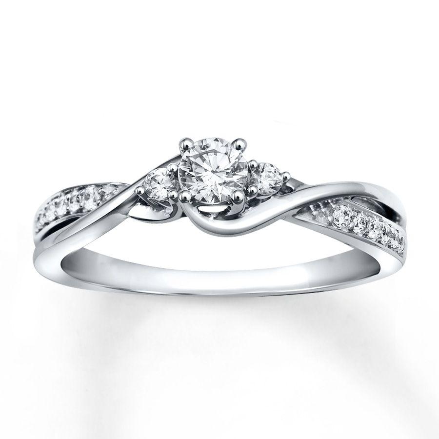 jared wedding bands Diamond Engagement Ring 1 3 ct tw Round