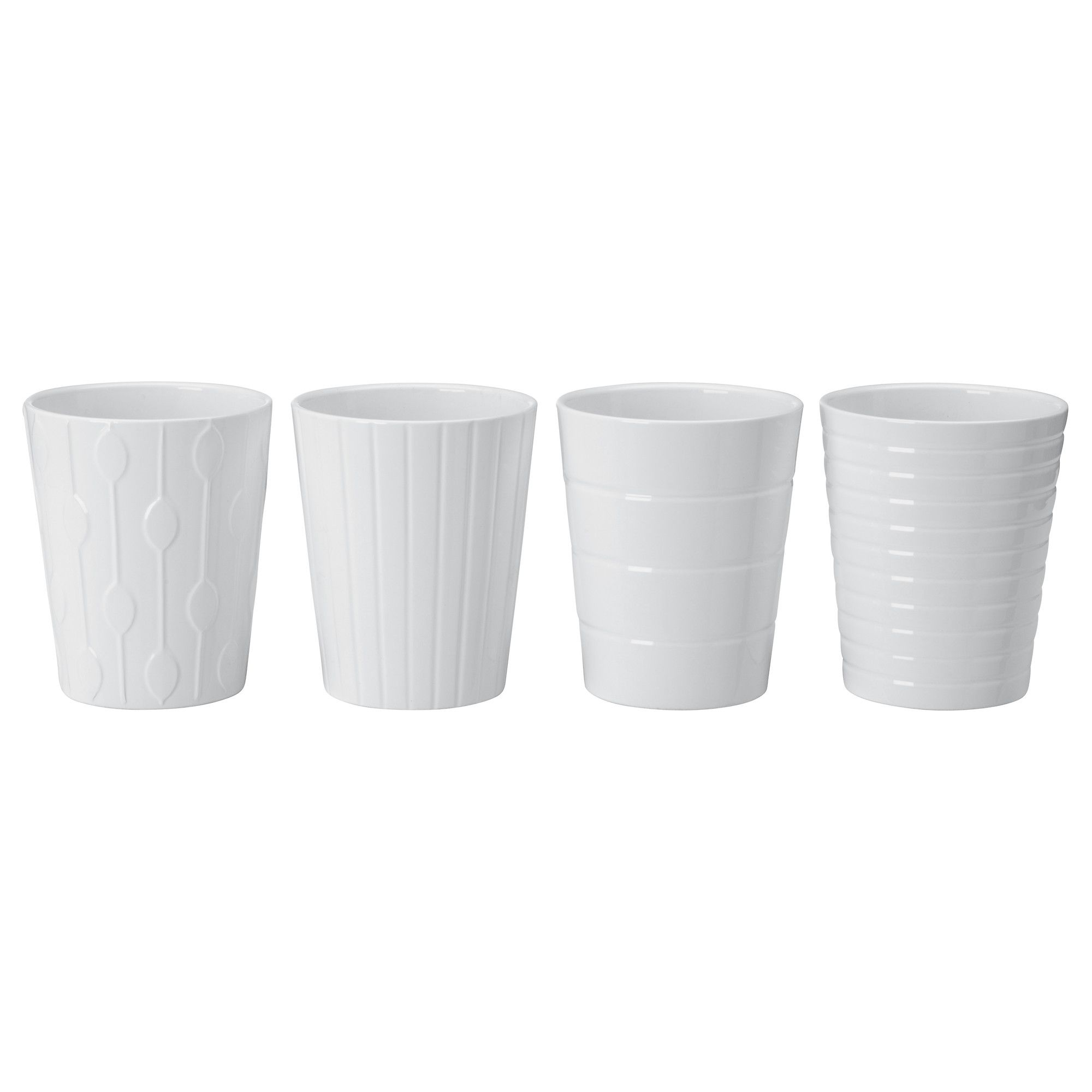 Ikea Planters Large Kardemumma Plant Pot White Assorted Patterns Ikea Ca