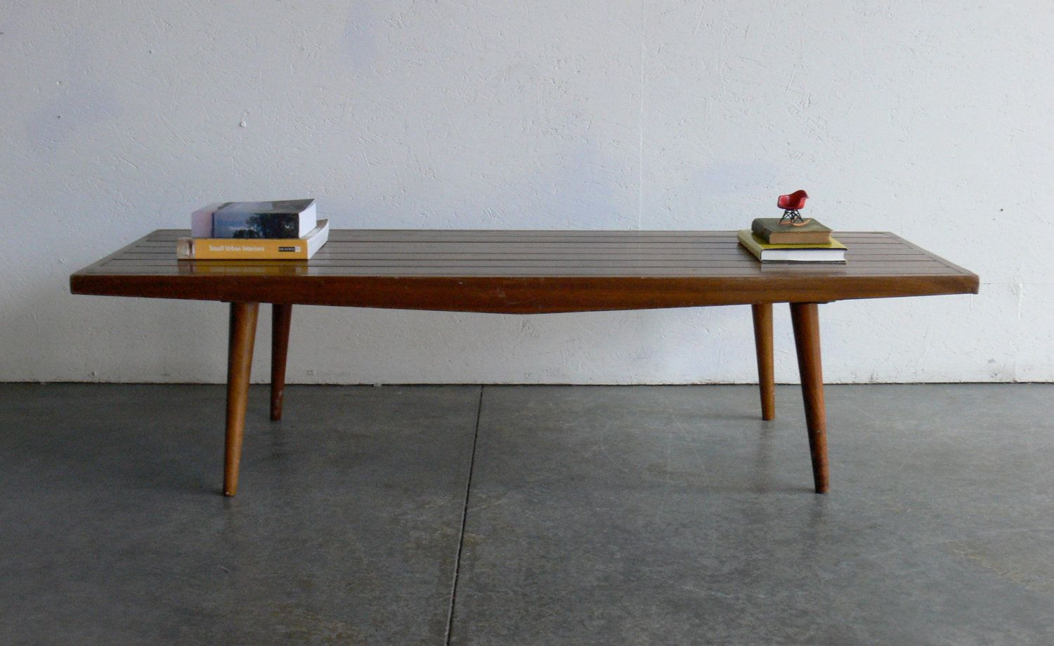 Vintage Mid Century Modern Coffee Table/ Bench