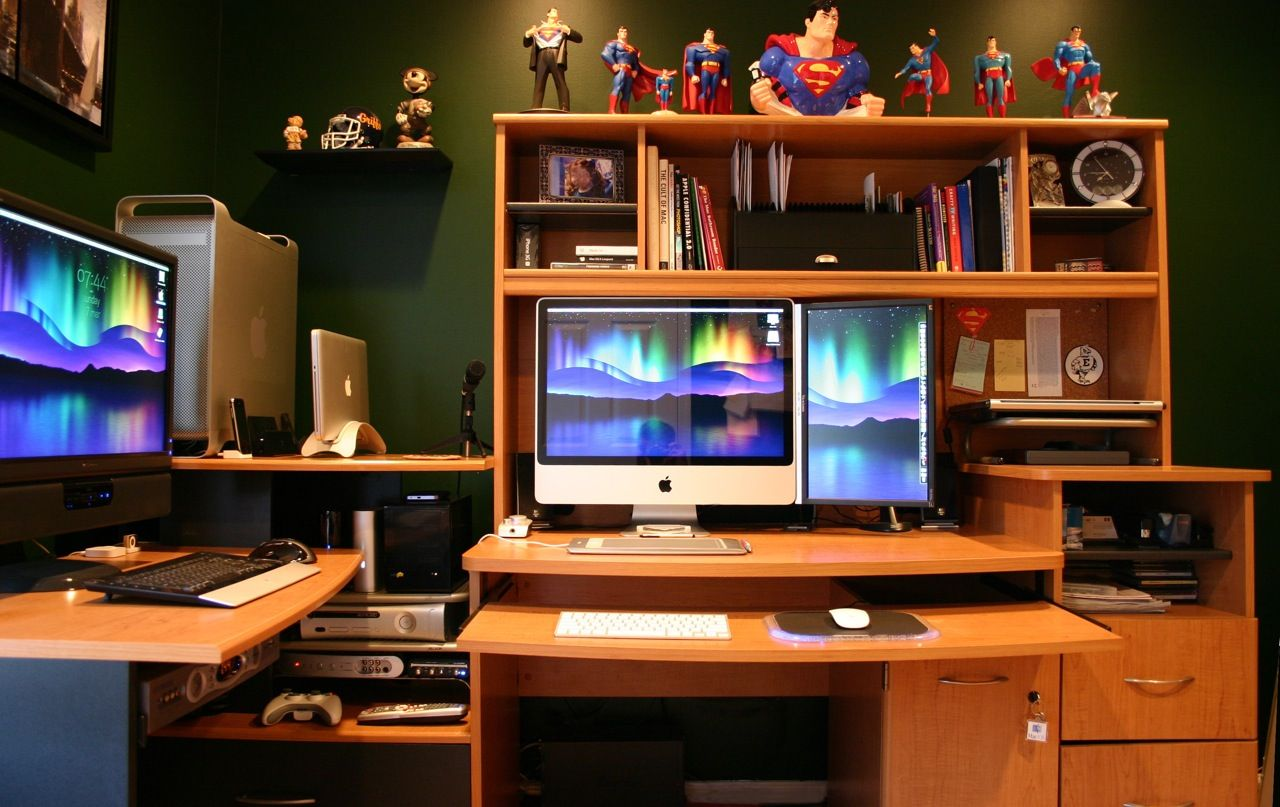 Home Office Desk Setup Ultimate Mac 43superman Collection Home Office Setup