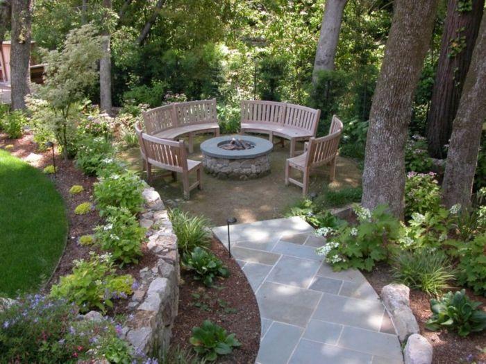 wunderschöne sitzecken im garten - selber gestalten ideen Garten - garten gestalten bilder