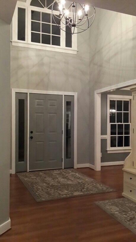 Sherwin Williams Mindful Gray on walls, Sherwin Williams Tin - mindful gray living room