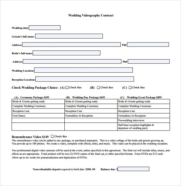 videography contract template free photography Pinterest - videography contract template