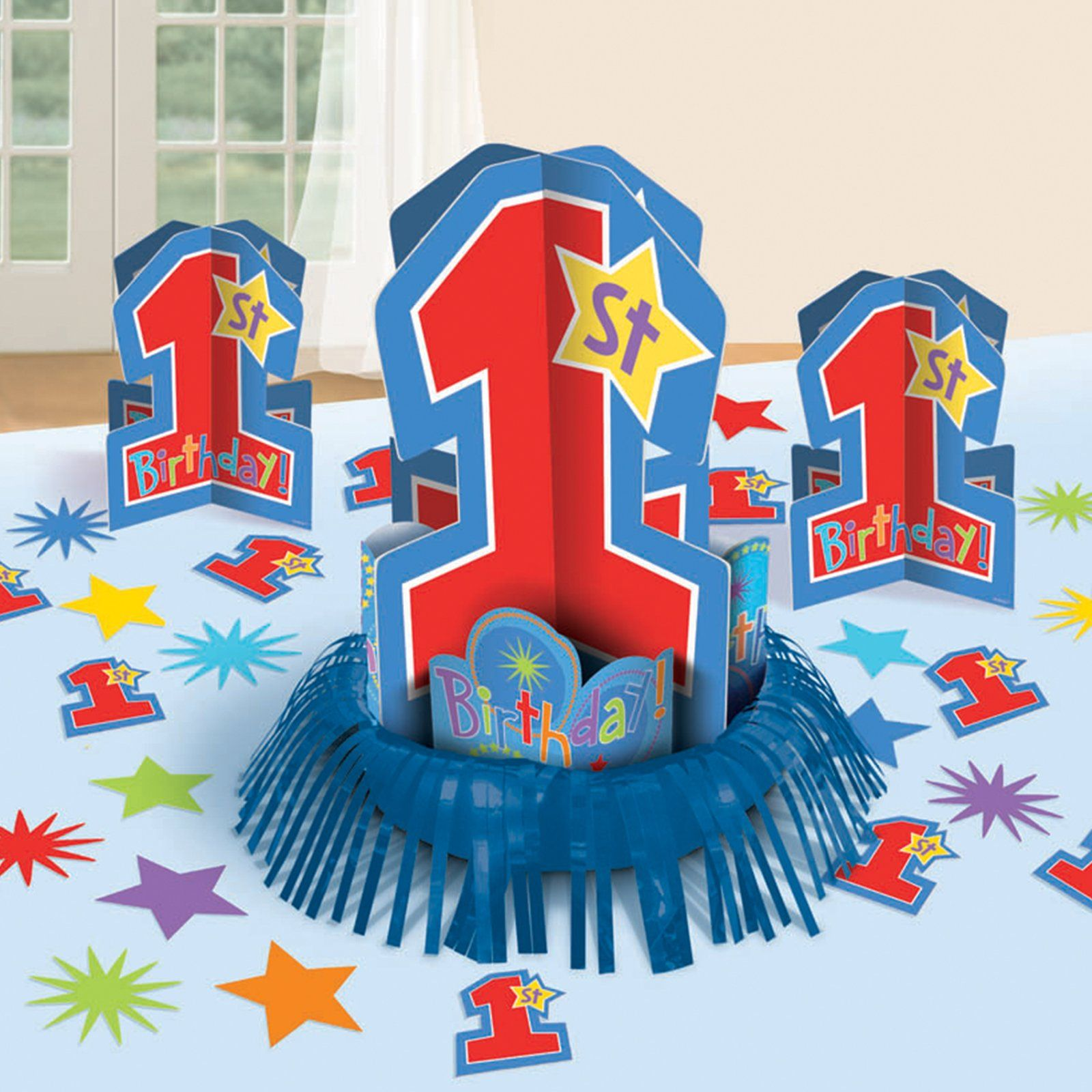One derful birthday boy table decorating kit