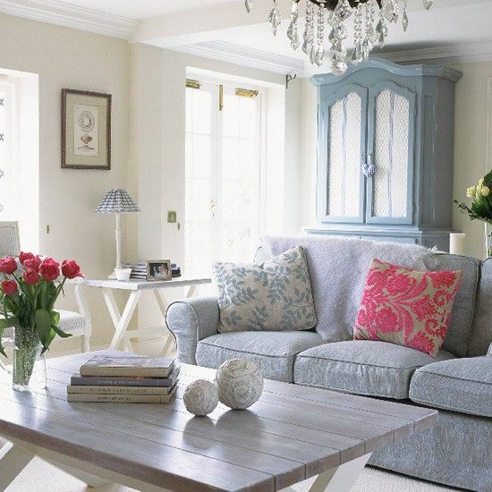 French-style living room Coffee table displays, French style and - french style living room