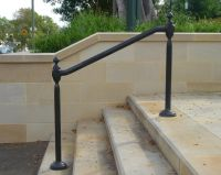 Wrought Iron Outdoor Hand Railings | Hollis Park Hand ...