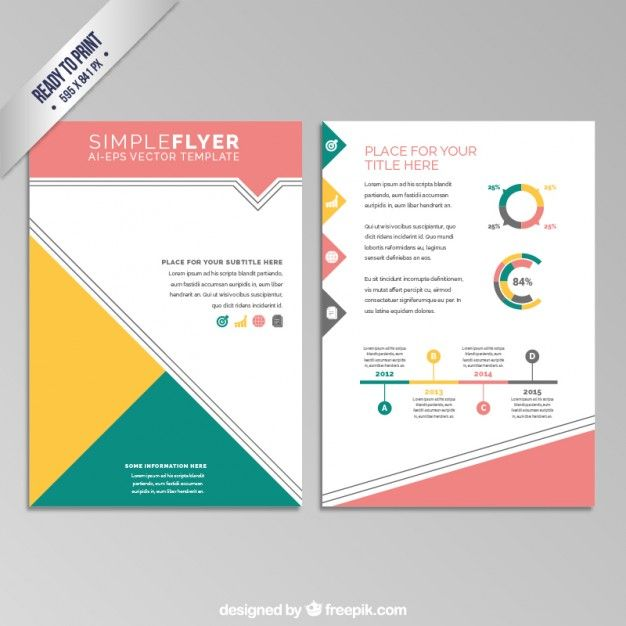 Folleto geométrico colorido Vector Gratis brochure Pinterest - free pamphlet design