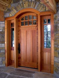 craftsman front doors for homes | Custom contemporary ...