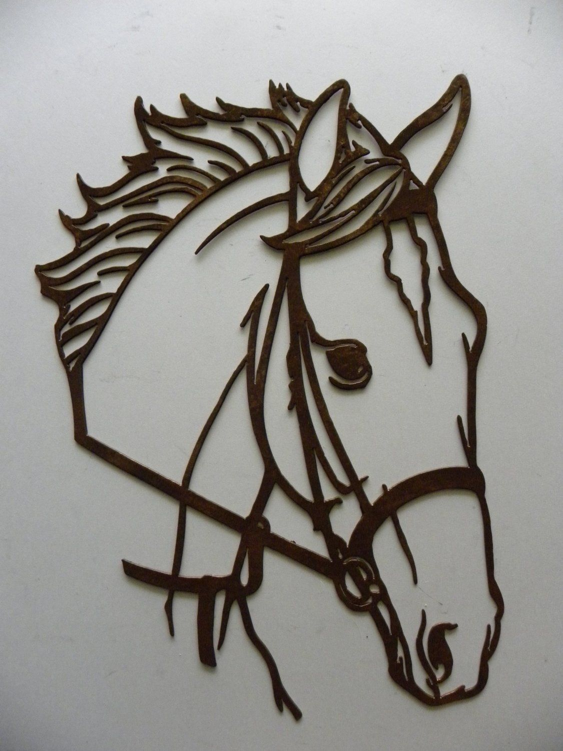 Rustic Outdoor Metal Wall Art Amazon Horse Head Metal Wall Art Country Rustic Home