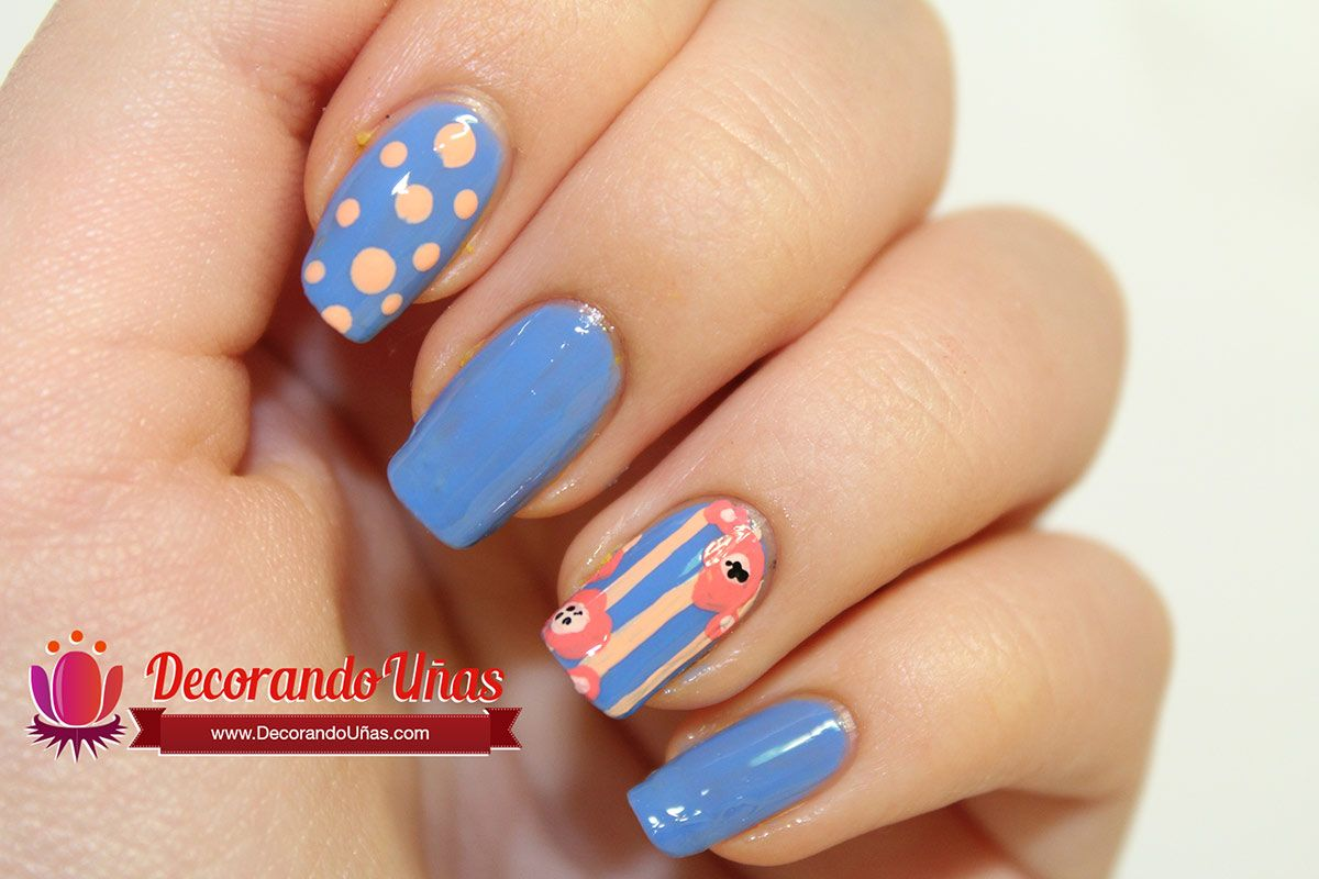 Uñas Preciosas Decoradas Uñas Decoradas Con Líneas Puntos Y Flores Video Tutorial