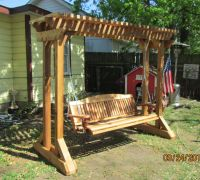 Outdoor Swing Frames | Hand made cedar porch swings ...