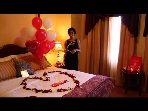 Video Romantic Ways to Decorate a Hotel Room on Valentineu0027s Day - romantic bedroom ideas for him