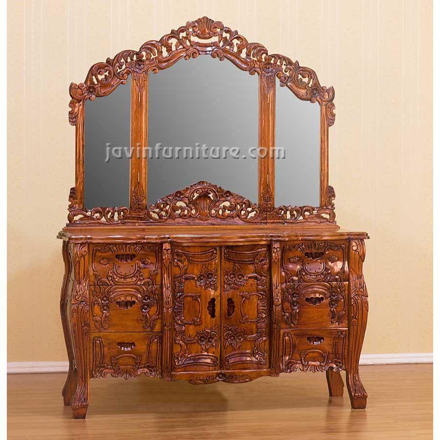Mirror antique dressing table