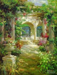 Impression Oil Painting Flowers Garden Home Decoration ...