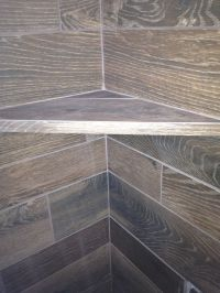 Wood Tile Shelf in Shower | bathrooms | Pinterest ...