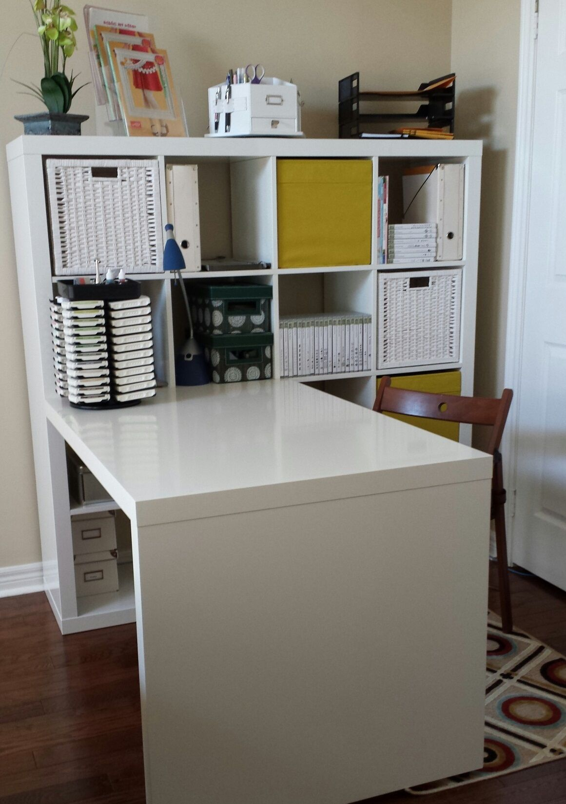 Kallax Ideen Arbeitszimmer This Creative Space Craft Room Ikea Expedit Deck And