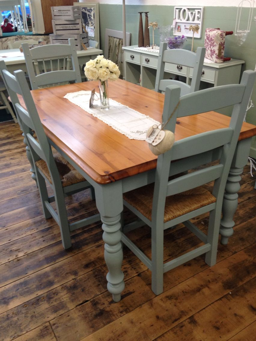 painting kitchen table Gorgeous kitchen table and chair set transformed by Aspirations UK using Frenchic Furniture Paint