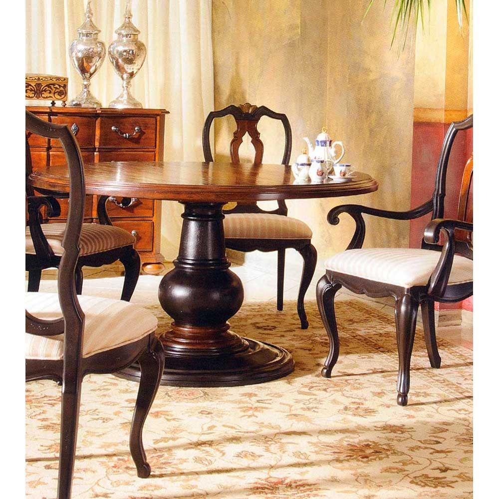 round pedestal kitchen table Hekman Tuscan Estates 60 inch Round Pedestal Dining Table HK 7 60