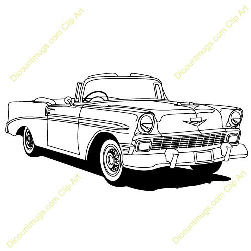 57 chevy car clip art