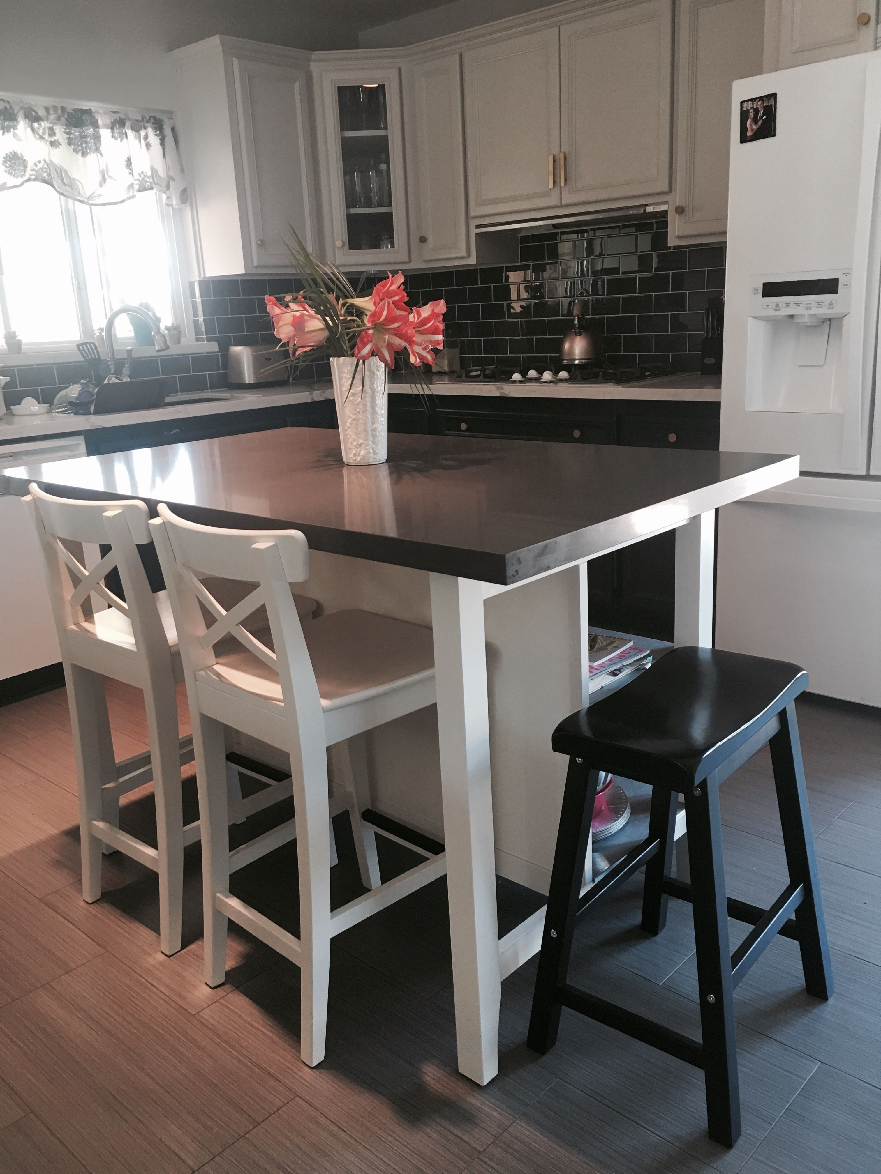 Quartz Argenteuil Best Here Is Another View Of Our Ikea Island We Added Grey