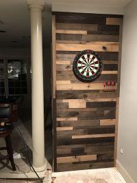 Pallet wall dartboard, mancave, pallet wall, diy, beer ...