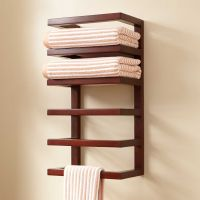 Mahogany Hanging Towel Rack - Towel Holders - Bathroom ...