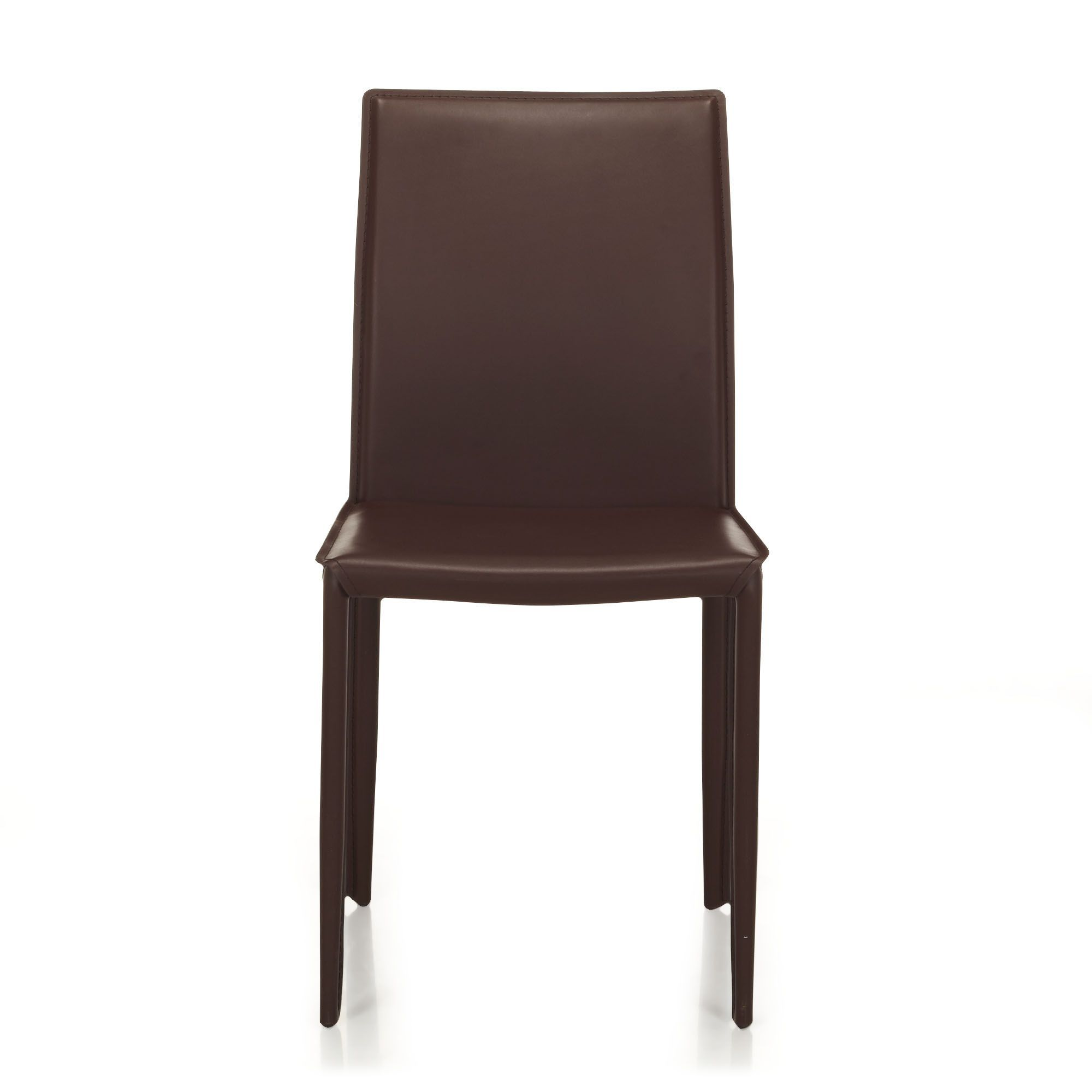 Chaise Table Salon Chaise En Croûte De Cuir Marron Marron Andrew Chaises