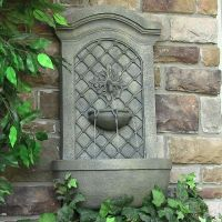 Rosetta Leaf Solar Wall Mounted Water Fountain - Natures ...