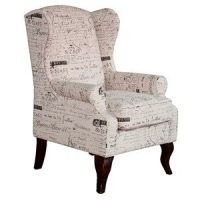 white wingback chairs | ... - WING BACK CHAIR FRENCH ...