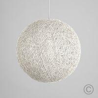 Modern Large White Lattice Wicker Rattan Globe Ball Style ...