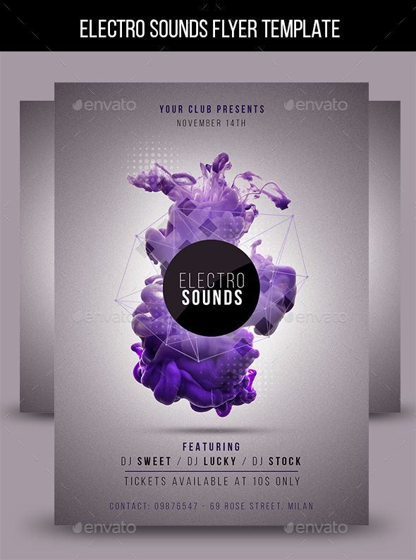 Electro Sounds Flyer Template Photoshop - electro flyer