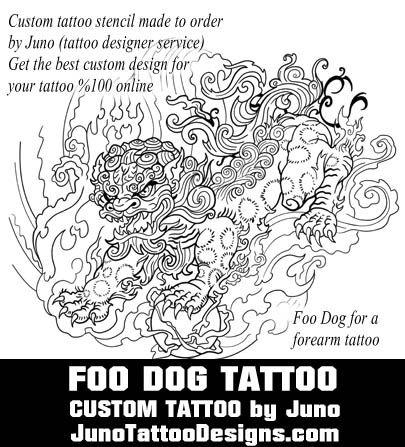 foo dog tattoo template by juno tattoo design Полинезия - tattoo template