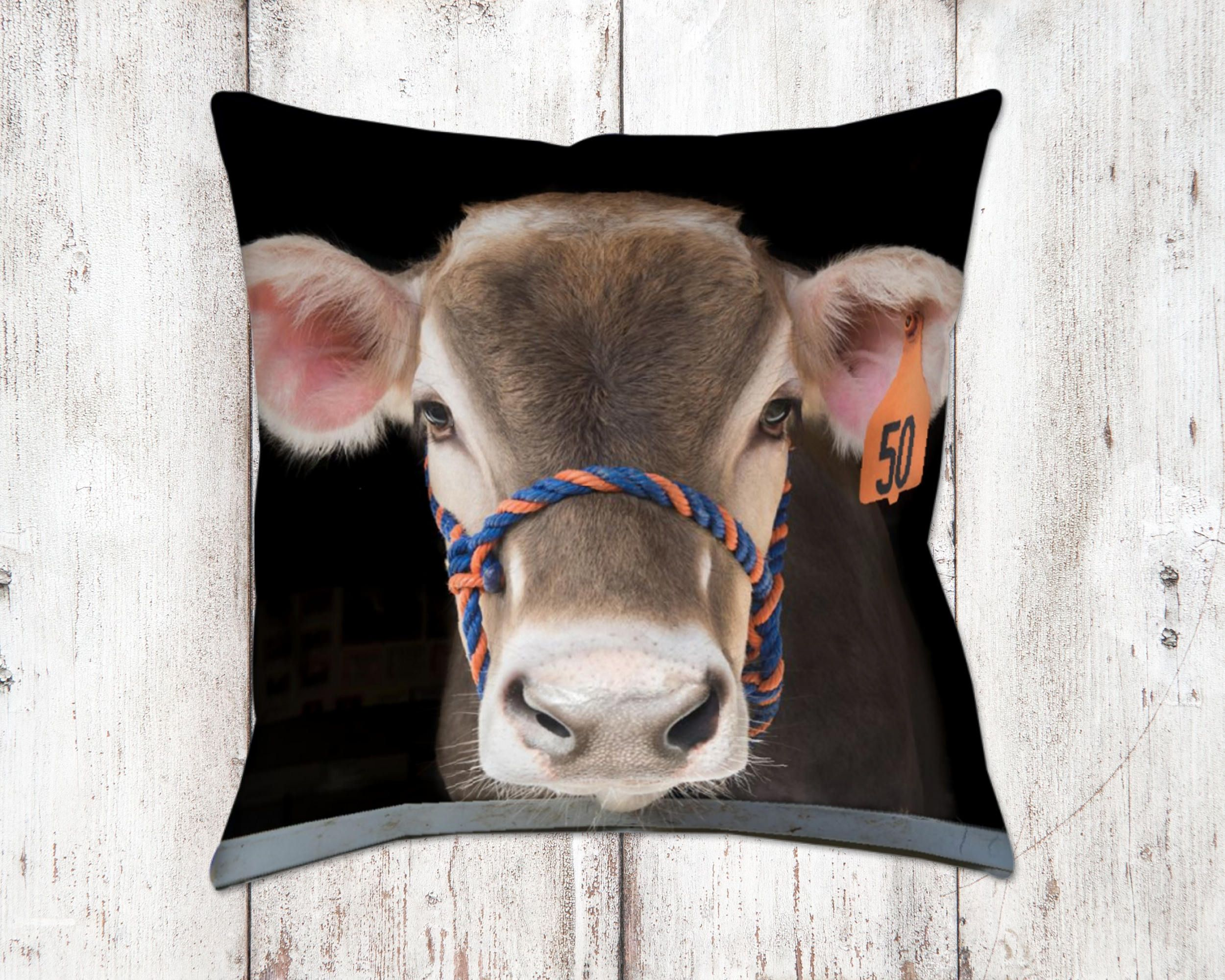 Dainty Jersey Cow Bella Decorative Pillow Throw Pillows Farm House Decor Homedecor Jersey Cow Bella Decorative Pillow Throw Pillows Farm House Cow Home Decor Cowboy Home Decor Wholesale home decor Cow Home Decor