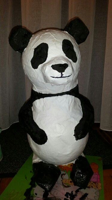 Surprise Maken Zwembad Surprise Panda Papier Mache | Surprises | Pinterest
