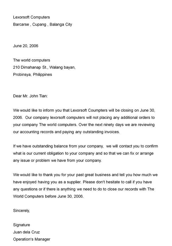 Business announcement letter - Announcement letter is written to - announcement letter samples