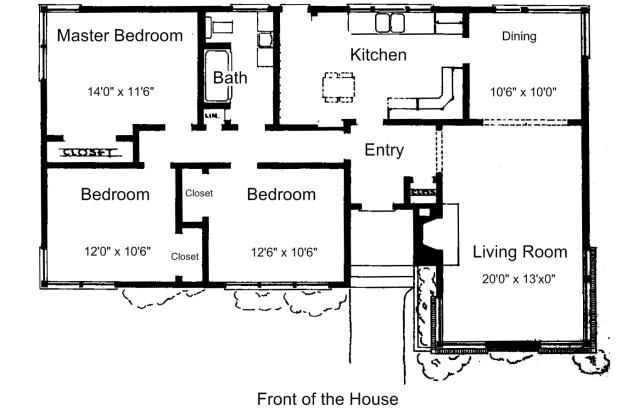 Free Floor Plans for Small Houses Free floor plans, Smallest - 3 bedroom house plans