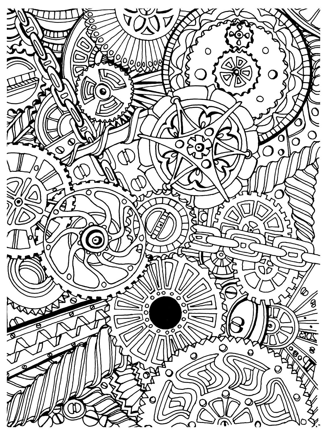 Free coloring page coloring adult zen anti stress mechanisms to
