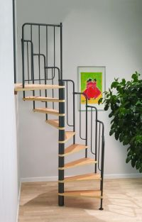 Dolle Barcelona Spiral Stair Kit with Black Metal-Work #  ...