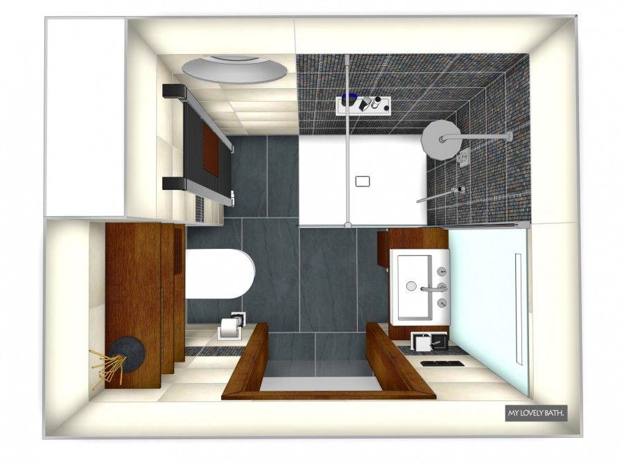 Kleines Bad Gestalten Ideen Mosaik Braun Beige Kleiner Incoming - badezimmer 5 quadratmeter
